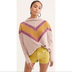 Free people Che Che pull over mock Neck Sweater
